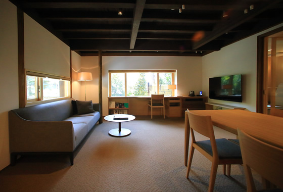 A spacious suite room offers you a complete privacy
